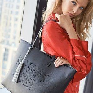 Victoria's Secret Large Black Vegan Leather Tote